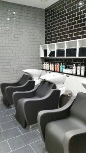 Hairdressers in Basingstoke, wash area