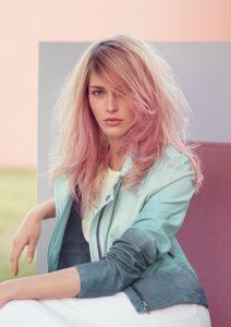 purple balayage at hair lab hair salon