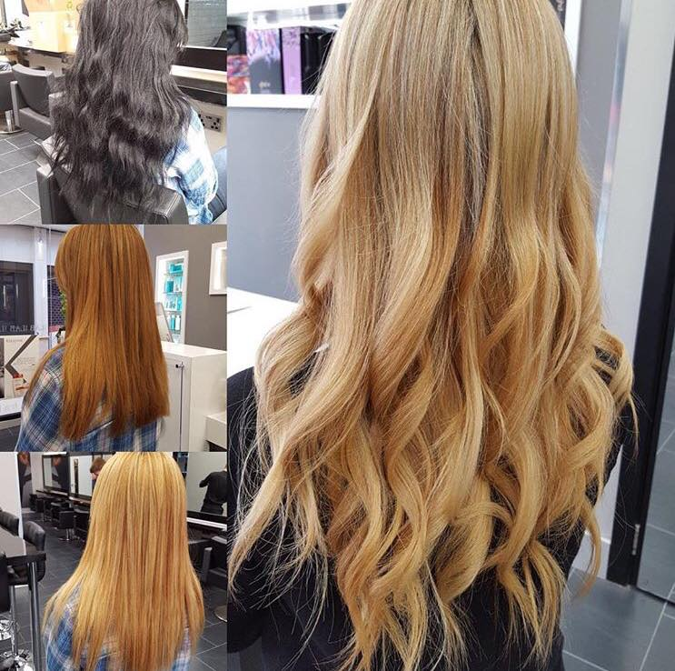 changing your hair colour from brown to blonde hair lab hair salon