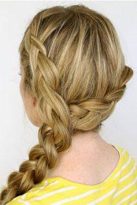 Two-dutch-braids-ponie at hair lab hair salon in basingstoke