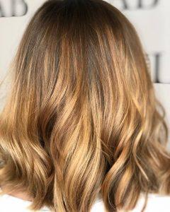 gold balayage hair colours at top salon basingstoke - hairlab