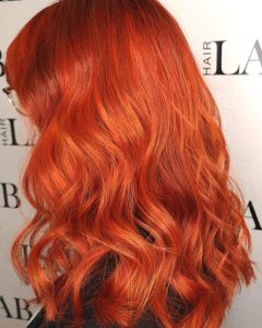 orange hair colours at top salon basingstoke - hairlab