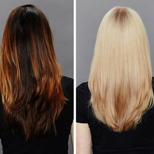 smartbond before and after at hair lab hair salon in hampshire