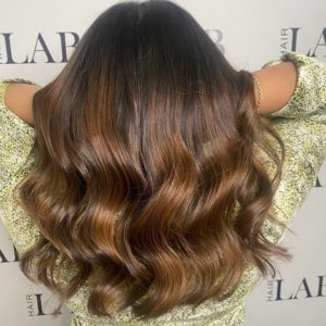 root smudge hair colour at hair lab hair salon in Basingstoke